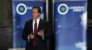 David Cameron in Hammersmith